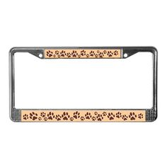Paw Print Licence Plate Frame