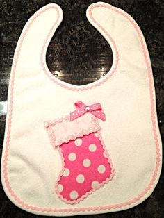Christmas baby bib by LilLolasChicBoutique on Etsy, $8.00
