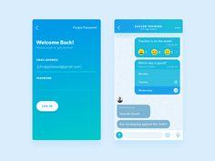 Poll Messenger UI by Daniel Klopper #Design Popular #Dribbble #shots