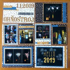 Well, first pocket page of 2019 - yay! It´s all about the fireworks on New Year´s Day - the weather was quite awful, the pouring rain toget. Happy Mail, Fireworks, Photo Wall, Pocket, Day, Frame, Picture Frame, Merry Mail, Photograph