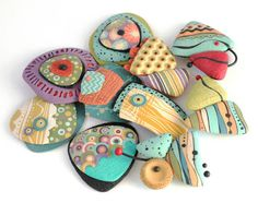 Polymer Clay Brooches | ¡Repetimos en Praga! by Fabi of Con Tus Manos