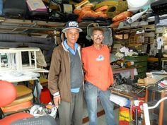Ramiro e Toninho Nardi (2012) Tapeçaria Irmãos Nardi, Rua Picinguaba, Vila Santa Isabl Foto: Odélio Nardi