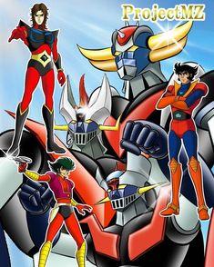 Big Robots, Cool Robots, Arte Robot, Robot Art, Gundam, Devilman Amon, Combattler V, Ulysse 31, Robot Cartoon