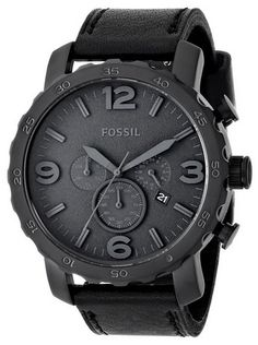 awesome Men's JR1354 Nate Stainless Steel Chronograph Watch with Black Leather Band - For Sale Check more at http://shipperscentral.com/wp/product/mens-jr1354-nate-stainless-steel-chronograph-watch-with-black-leather-band-for-sale/