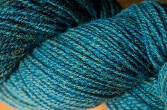 Teal yarn will make a great sweater