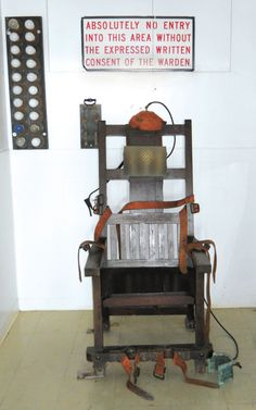 Old Sparky.electric chair housed in prison museum at McAlester, Oklahoma
