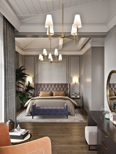 Nightstands, beds, side tables, cabinets or armchairs are some of the luxury bedroom furniture tips that you can find. Every detail matters when we are decorating our master bedroom, right? Luxury Bedroom Furniture, Luxury Bedroom Design, Master Bedroom Design, Luxury Home Decor, Home Bedroom, Bedroom Decor, Master Suite, Bedroom Ideas, Decoration Design