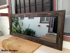 Wood mirror, full lenght mirror, mirrors.