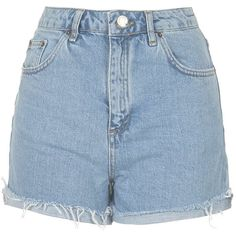 TOPSHOP MOTO Bleach Girlfriend Shorts ($52) ❤ liked on Polyvore featuring shorts, bottoms, denim shorts, highwaisted jean shorts, denim short shorts, high-waisted shorts and bleached high waisted shorts