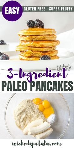 Recipes Breakfast Pancakes Fluffy Paleo Banana Pancakes Recipe With Almond Flour - This healthy paleo banana pancakes recipe makes delicious and FLUFFY banana pancakes every time! Almond flour banana pancakes are the perfect healthy breakfast. Breakfast Pancakes, Paleo Breakfast, Breakfast Recipes, Breakfast Frittata, Breakfast Tacos, Breakfast Cereal, Nutritious Breakfast, Breakfast Casserole, Paleo Banana Pancake Recipe