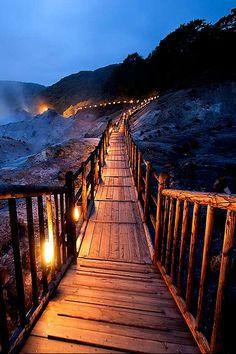 Hell Valley - Hot springs, Noboribetsu, Hokkaido, Japan