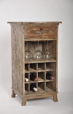 Learn How To Make A Chic, Rustic Wine Cabinet For Your Home