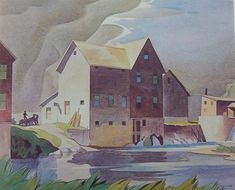 A.J. Casson, Mill At Washago, Canadian Group of Seven