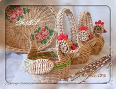 Поделка изделие Плетение Плетеночка кашпо Трубочки бумажные фото 4