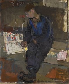 Boy with Comic, 1957 by Joan Eardley (British 1921–1963)