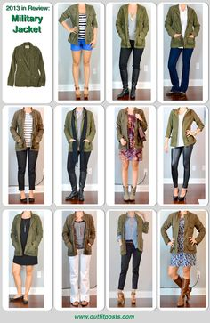 2013 -Outfit Post: Military Jacket. Try #CAbi Spring '14 Anorak Jacket. www.amymaslowski.cabionline.com