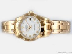 Rolex-Masterpiece-Watch-Automatic-Full-Gold-With-White-Dial-Roman-Marking