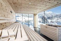wood sauna with sky view Saunas, Norway House, Swiss House, Sauna House, Hudson Homes, Outdoor Sauna, Sauna Design, Finnish Sauna, Home Spa