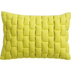 """mason quilted yellow 18""""x12"""" pillow with feather-down insert"""
