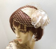 ddd8a5fada82a Excited to share the latest Metallic Gold Fascinator with Gold Veil