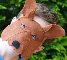 Kangaroo felt mask by Schooza (and Ebony Shae)