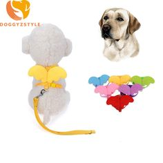 Adjustable Cute Angel Dog Leash Wings Puppy Cat Harness Candy Straps For Small Dogs Teddy Chihuahua Pet Accessories DOGGYZSTYLE #Affiliate