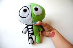 The Half Plush / Eco Friendly Plush Toy on Etsy, $30.00