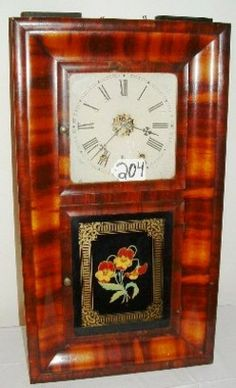 Shelf Clock; Jerome & Co, 8-Day, Ogee, Mahogany, 30 inch. Item D9931379http://www.prices4antiques.com/  Category:  clocks & watches Type:  shelf Origin:  Connectic...