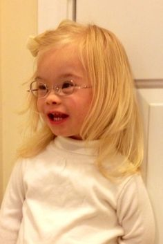 Beautiful beautiful hair and smile...World Down Syndrome Day