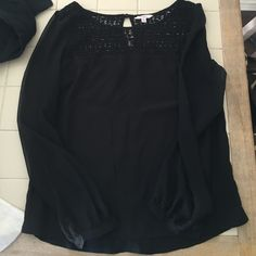 Candies black shirt Cute black top! Doesn't fit and need gone! Bundle for discount! Size M Candie's Tops Blouses
