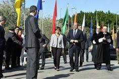 Apertura del Curso Universitario 2015 / 2016. Su Majestad el Rey Don Felipe a su llegada a la Universidad de Murcia, Murcia, 30.09.2015.