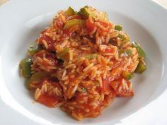 Mediterrane Reispfanne (Aubergine statt Paprika?)