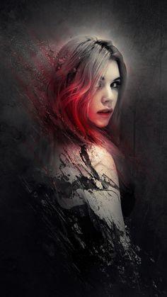 Foto Fantasy, Dark Fantasy Art, Fantasy Girl, Digital Art Girl, Digital Portrait, Portrait Art, Book Cover Background, Wattpad Background, Tears Art