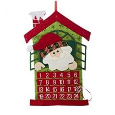 Felt Christmas Advent Calendar featuring Santa