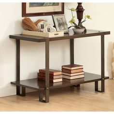 Furniture of America Arbon Rustic Dark Oak Sofa Table with Nailhead Accent - Overstock™ Shopping - Great Deals on Coffee, Sofa & End Tables