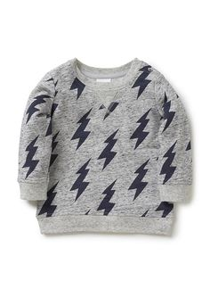 Baby Boys Tops & Tees | Lightning Bolt Sweat | Seed Heritage