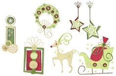 Deco Christmas Set - 4x4 | Christmas | Machine Embroidery Designs | SWAKembroidery.com