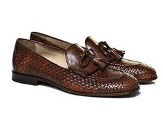 Brown Braided Loafer - Antonio Maurizi for SuitSupply