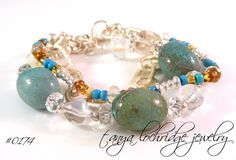 Chrysocolla Linked Chain Bracelet