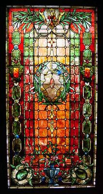 Antique Large Period Stained Glass Leaded Window Possibly Tiffany Studios WOW | eBay