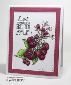 Berry It Digital Stamp Set | Power Poppy by Marcella Hawley