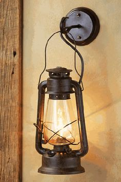 Lantern Light Fixture, Rustic Light Fixtures, Rustic Wall Sconces, Wall Lantern, Rustic Walls, Rustic Lighting, Old Lanterns, Rustic Lanterns, Lanterns Decor