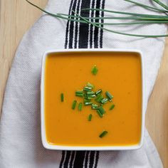 Spicy Harissa and Roasted Butternut Squash Soup with Toasted