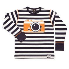 camera t-shirt baby - Nosh Organics