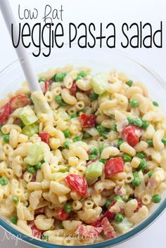 Low Fat Pasta Salad with Vegetables a healthier pasta salad for summer by Nap-Time Creations