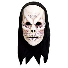Repulse and revile with this scary mask! Vile Mask features a frightening nose-less face with attached black hood. Vile mask is made of comfort-fit foam latex material. Halloween Looks, Halloween Face Makeup, Scary Mask, Black Hood, Mask Party, Party Stores, Costume Accessories, Fictional Characters, City
