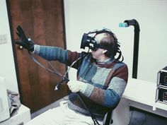 The History and Future of VR | Kevin Kelly trying early VR prototypes in Jaron Lanier's lab in 1989. | Credit: COURTESY OF KEVIN KELLY | From Wired.com