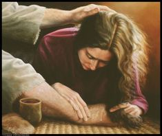 """""""Til He Appeared"""" Figurative/Portrait/Christian Art, the woman who washed Jesus' feet Diana Moses Botkin -- Diana Moses Botkin Saint Mary Magdalene Religion, Pictures Of Christ, Christian Artwork, Bride Of Christ, Prophetic Art, Biblical Art, Bible Art, Lds Art, Religious Art"""