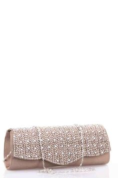Satin Feel Clutch Bag with Diamante Design Fabulous Dresses, Latest Fashion Trends, Satin, Belt, Feelings, Clothes For Women, Pink, Accessories