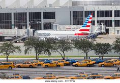 American Airlines planes at Miami international airport - Stock Image